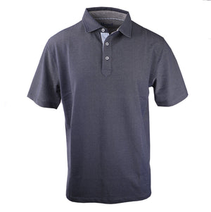 Fulton Navy Stretch Pique Polo
