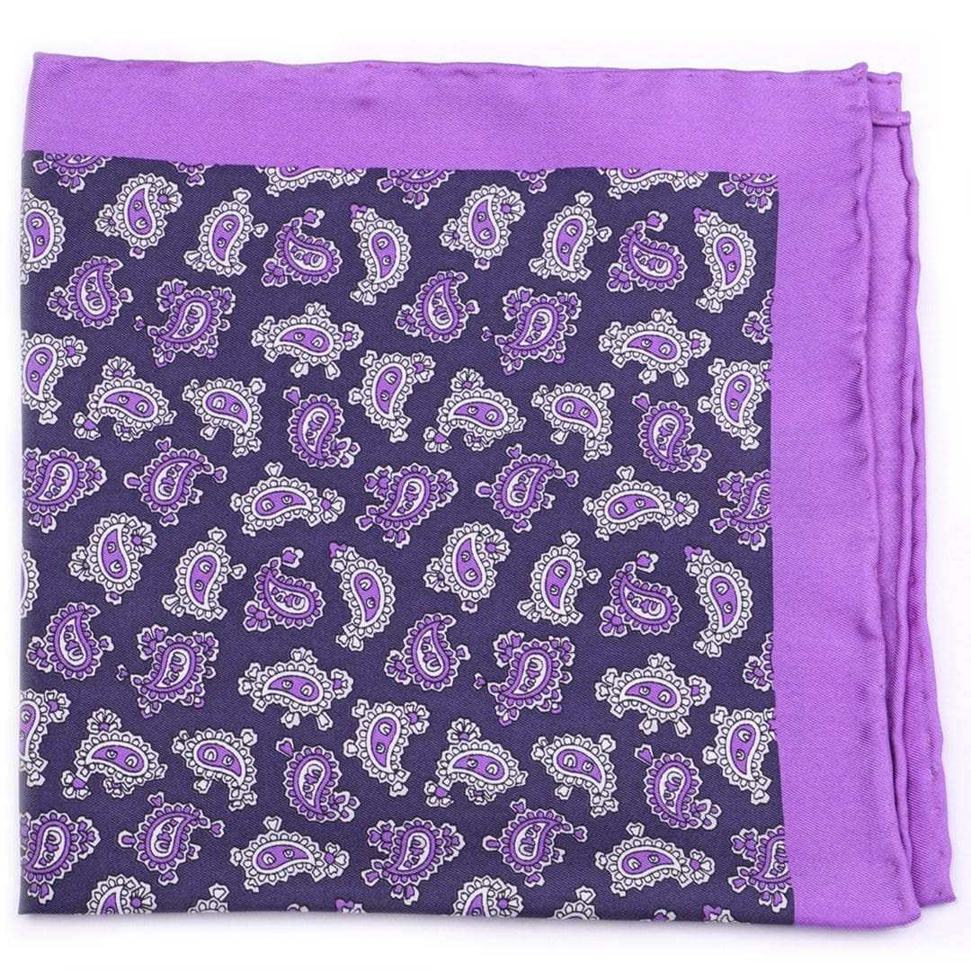 Silk Paisley Design Pocket Square