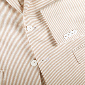 Tan Bisque Seersucker Stretch Sport Coat