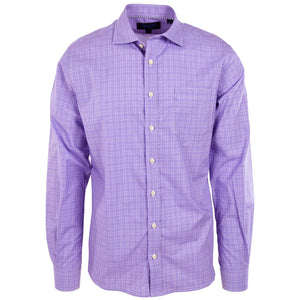 Audubon Purple & White Glenplaid - Haspel Clothing