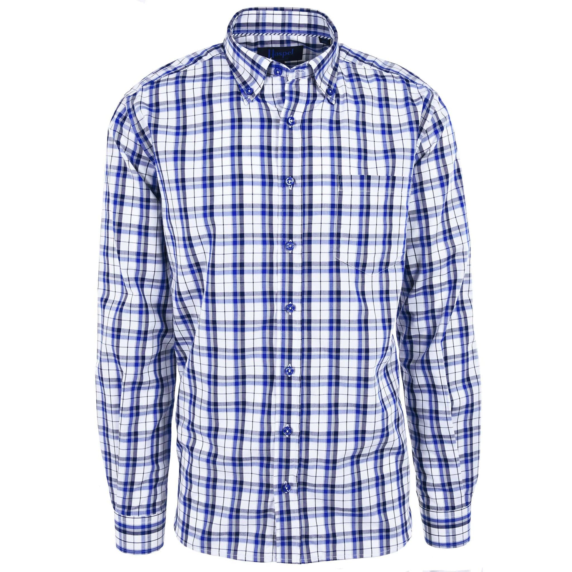 Franklin Black & Blue Plaid - Haspel Clothing