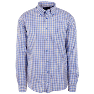 Franklin Navy & Tan Plaid - Haspel Clothing