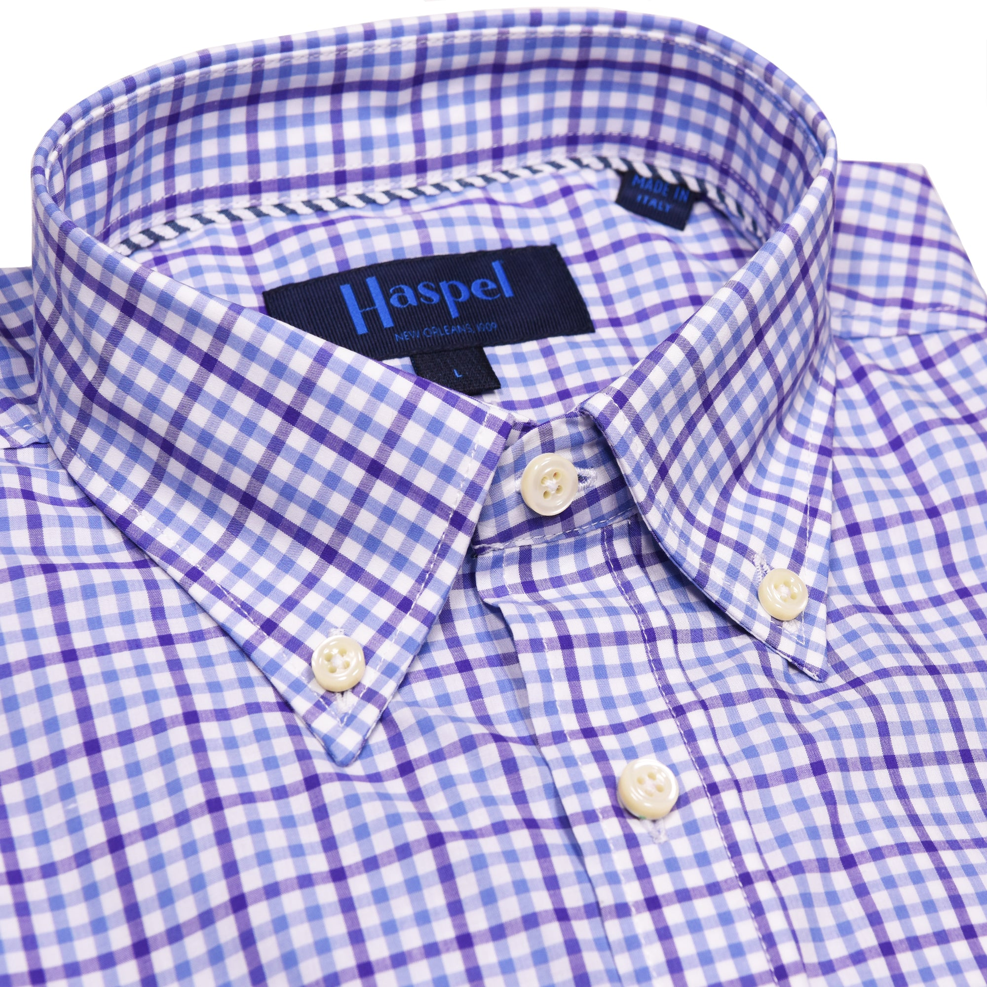 Franklin Purple & White Check