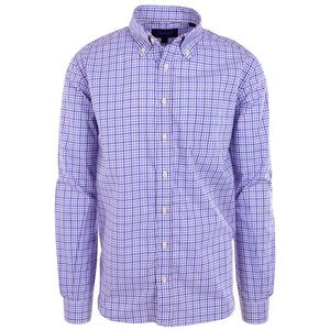 Franklin Purple & White Check - Haspel Clothing