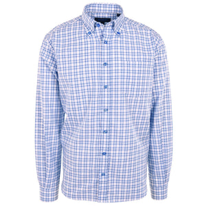 Franklin Sky Blue Plaid - Haspel Clothing