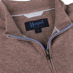 Joseph Havana Tan Quarter Zip