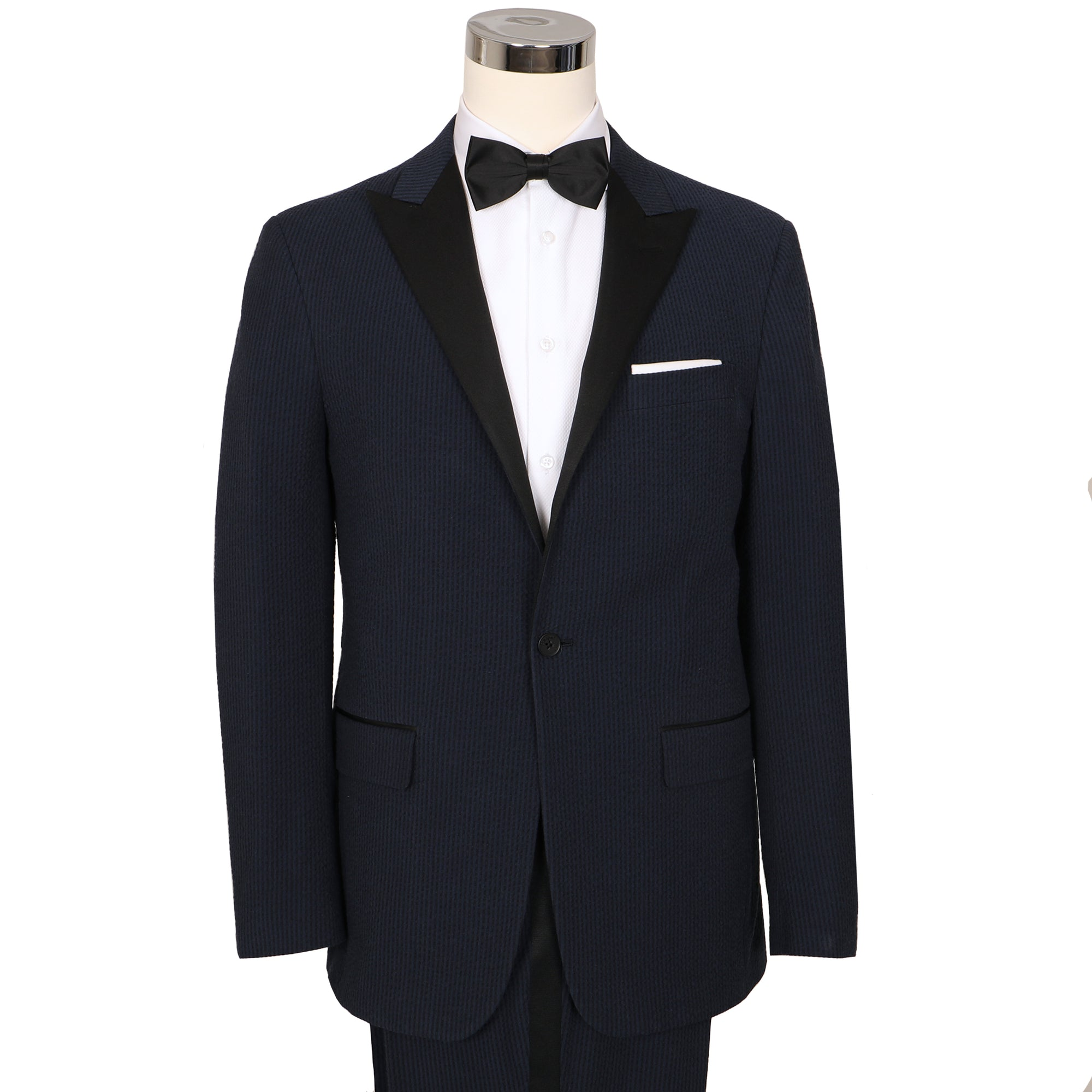Vieux Carre Navy/Black Seersucker Stretch Tuxedo