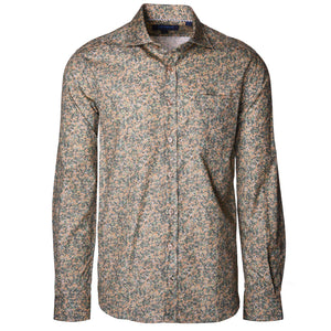 Audubon Olive Bubbles Long Sleeve Shirt - Haspel Clothing