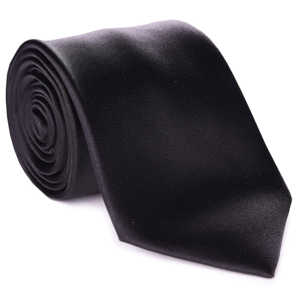 Black Formal Satin Tie
