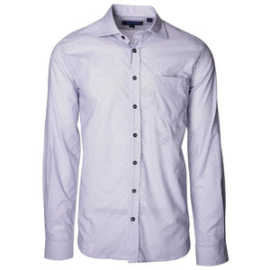 Audubon Blue Diamond Long Sleeve Shirt - Haspel Clothing