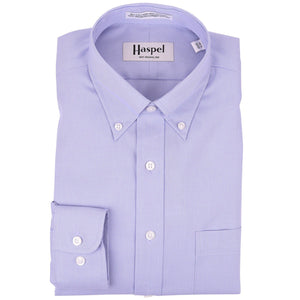 Howard Lt. Blue Mini Houndstooth Button Down Dress Shirt - Haspel Clothing