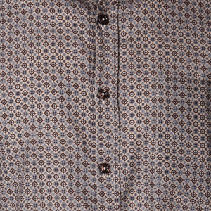 Audubon Brown Medallion Long Sleeve Shirt - Haspel Clothing