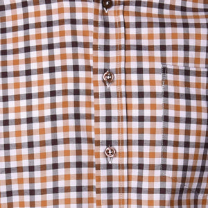 Franklin Brown & Tan Check - Haspel Clothing