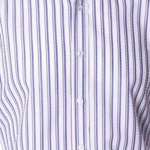 Carroll Navy Red Seersucker Stripe - Haspel Clothing