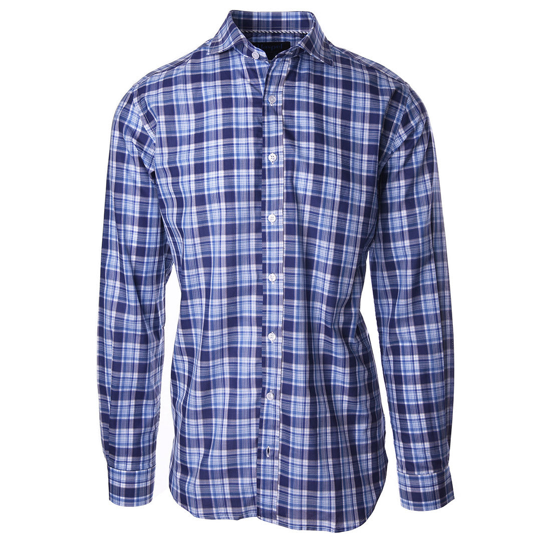Carroll Blue Plaid - Haspel Clothing