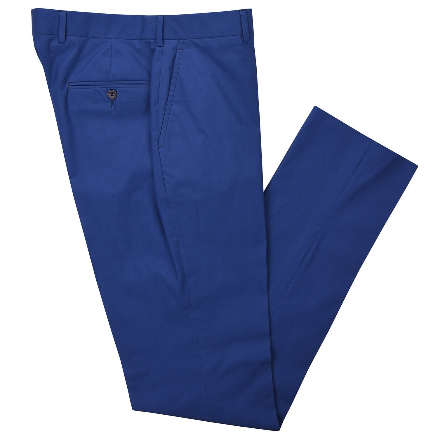 Channel Blue Poplin Pant - Haspel Clothing