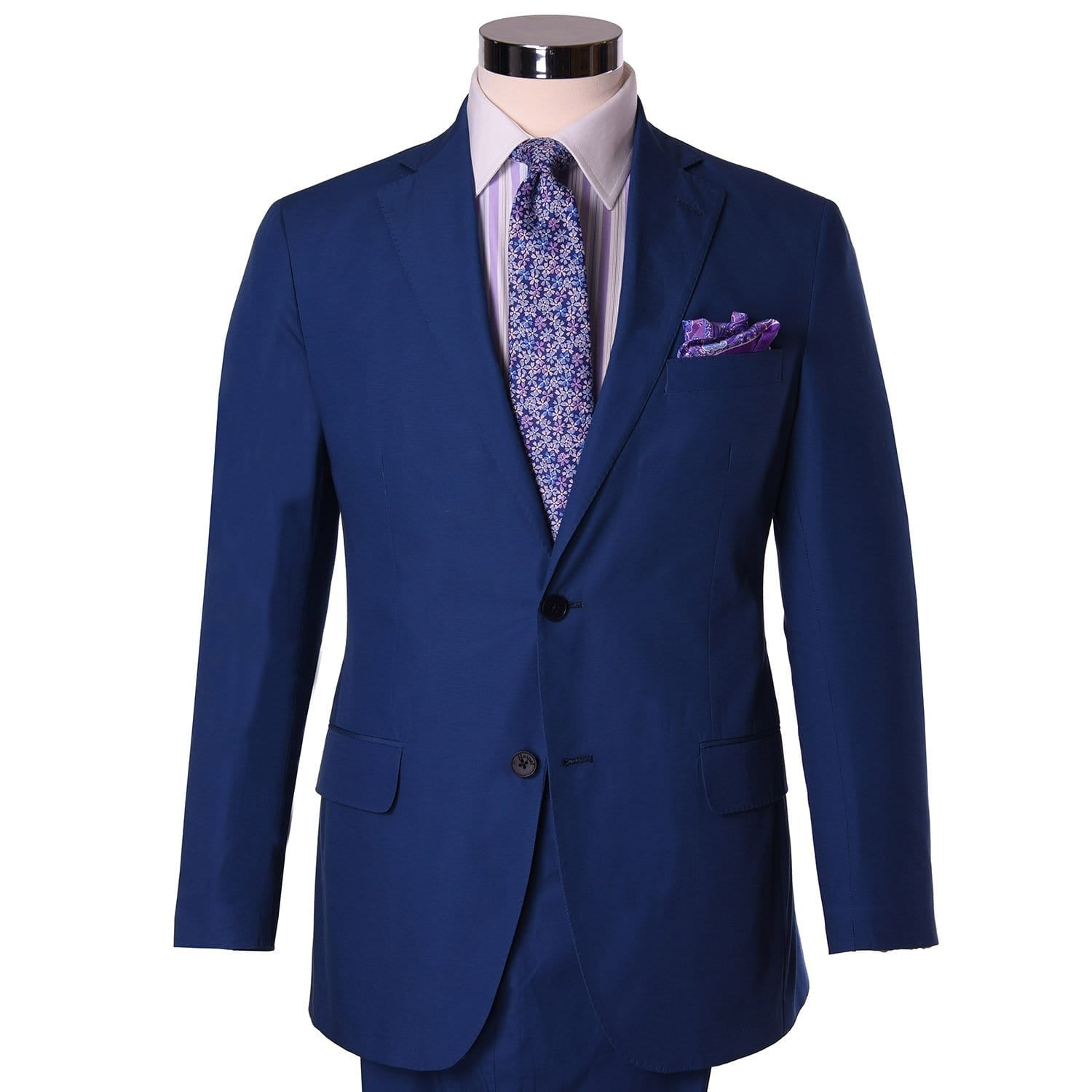 Channel Blue Poplin Sport Coat - Haspel Clothing
