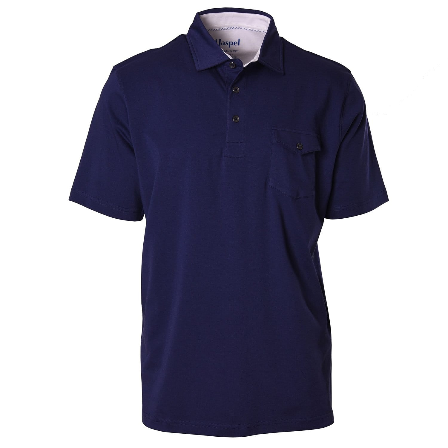 Crozat Navy Pocket Polo - Haspel Clothing