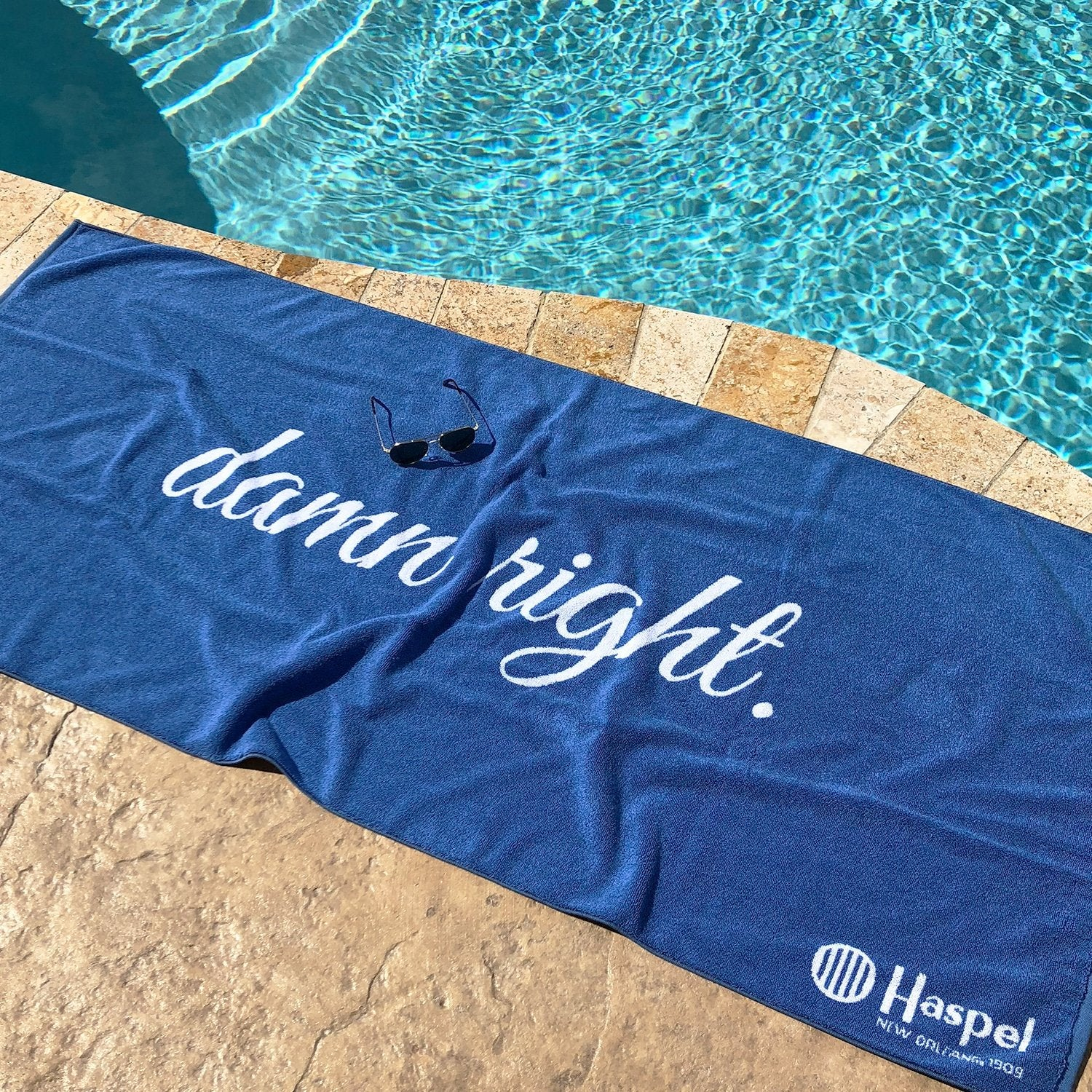 Damn Right Beach Towel - Haspel Clothing