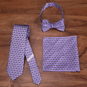 Limited Edition NOLA Couture X Haspel Lavendar Catfish Print Pocket Square - O/S