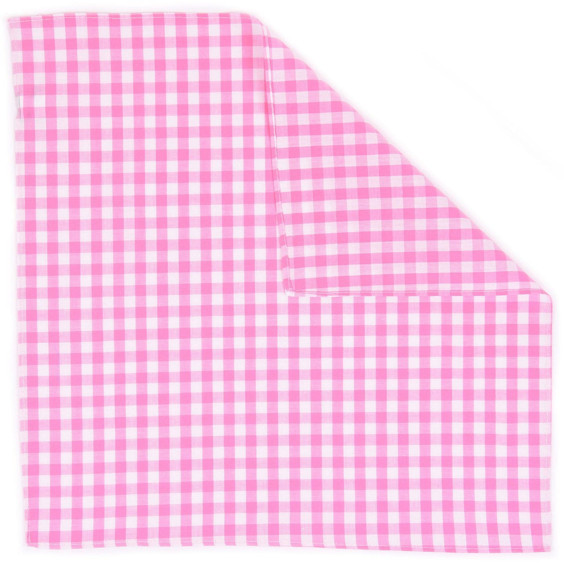 Fuchsia Gingham Pocket Square