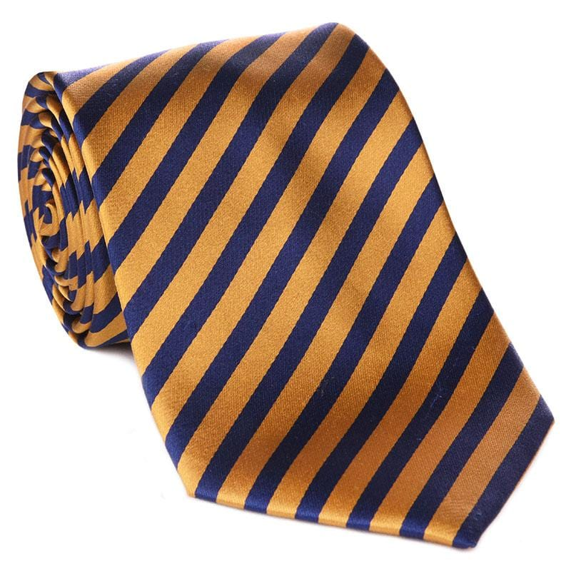 Blue & Gold Collegiate Tie - Haspel Clothing