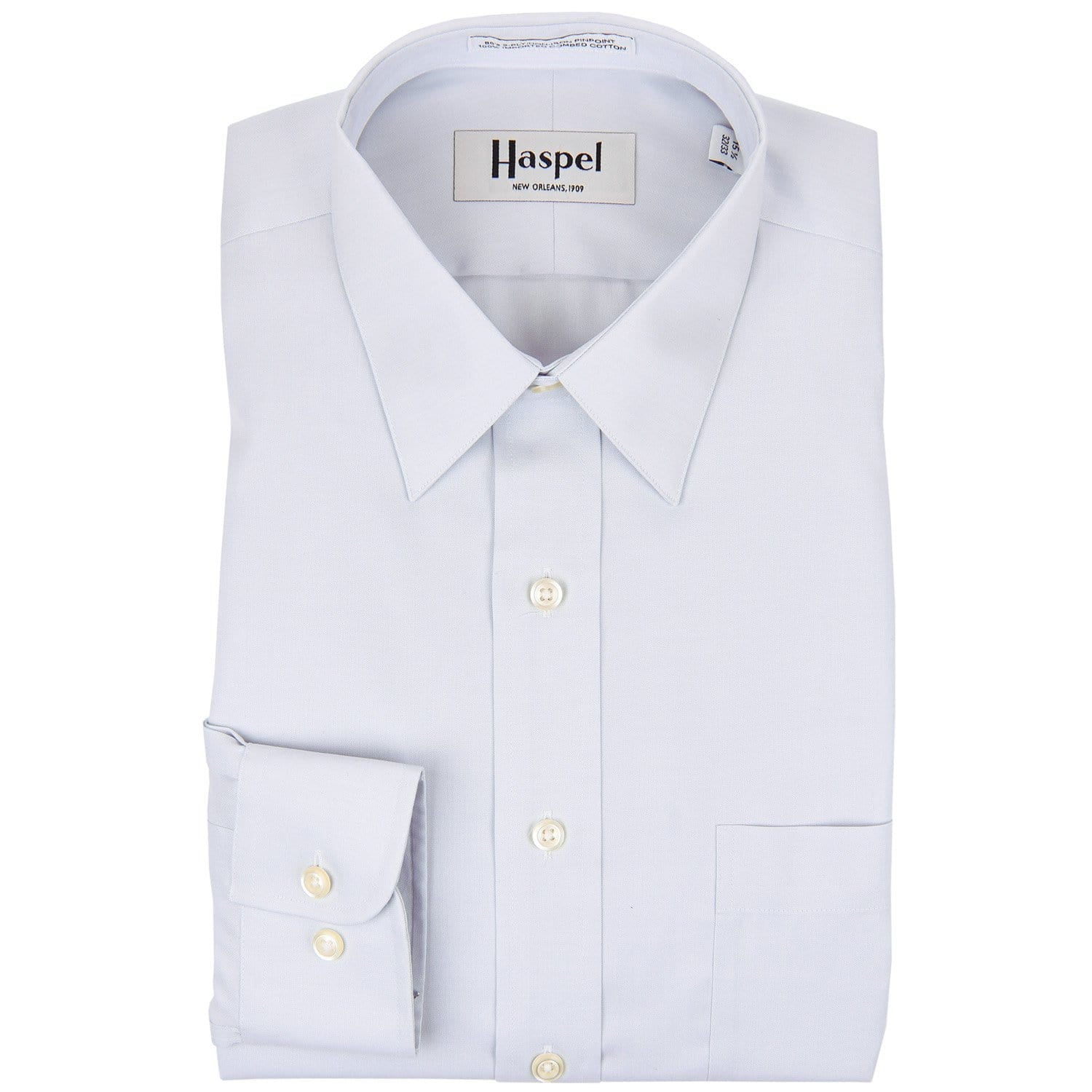 Grey/Silver Solid Dress Shirt - Haspel Clothing