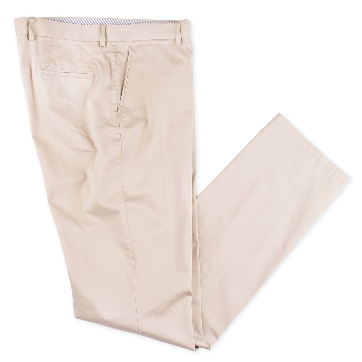 Lafitte Khaki Cotton Twill Chino - Haspel Clothing
