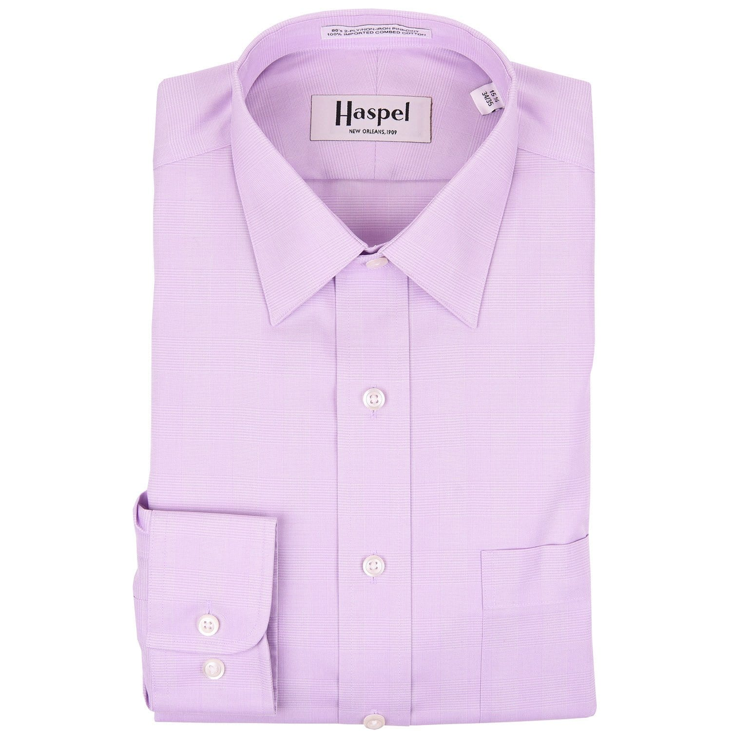 Lavender Glenplaid Dress Shirt