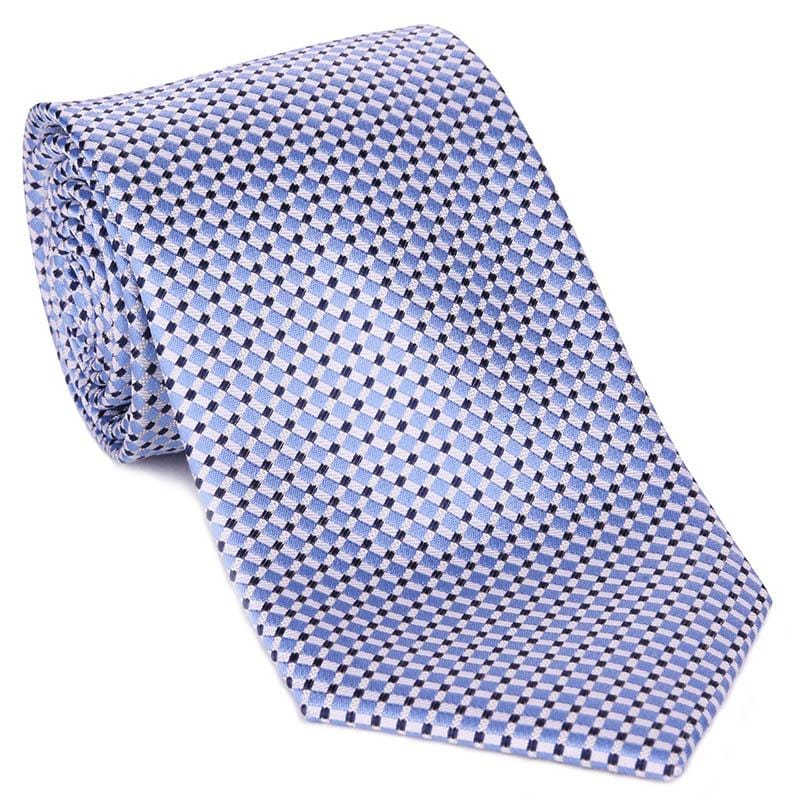 Light Blue Basket Weave Tie