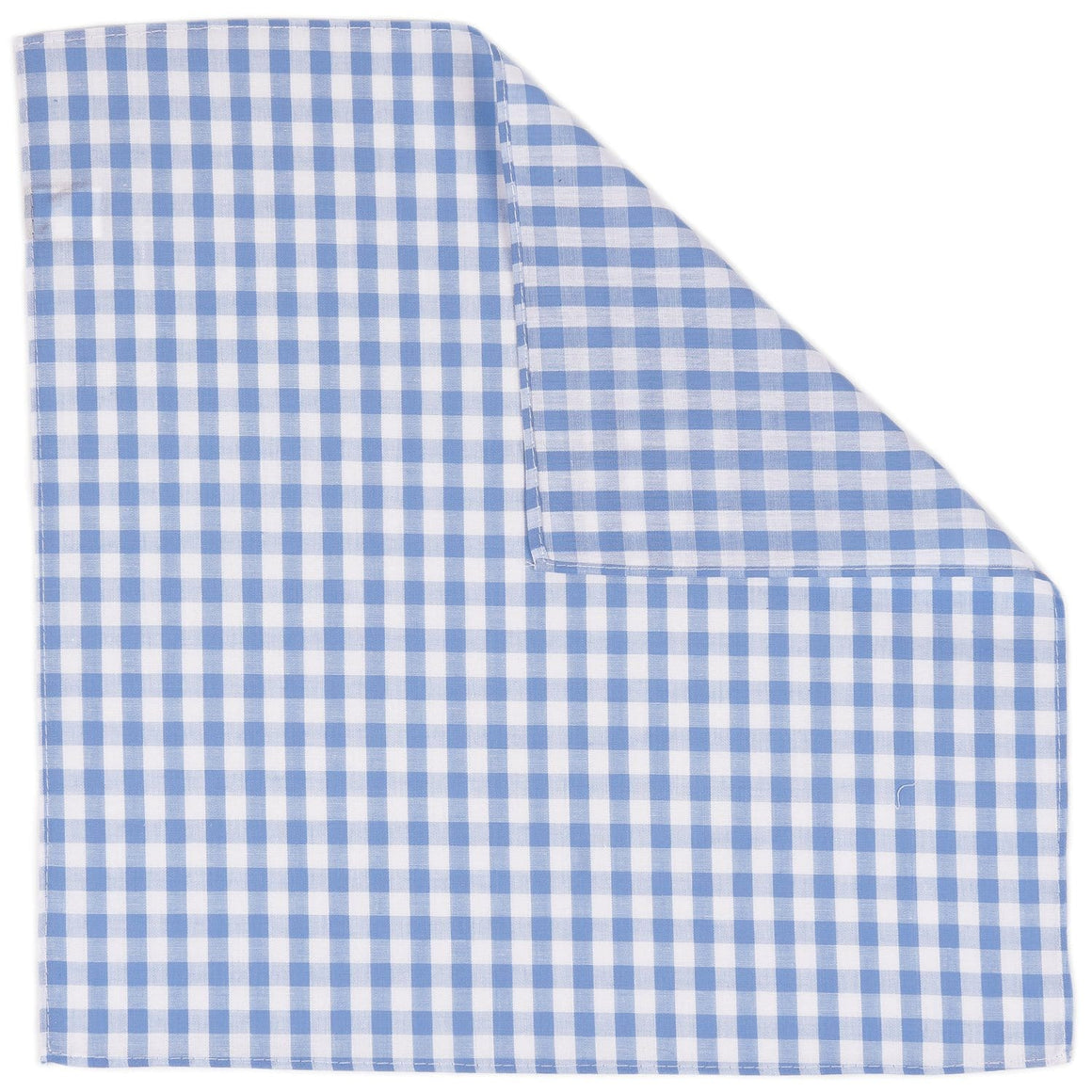 Light Blue Gingham Pocket Square