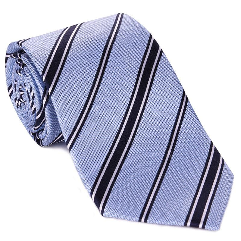 Light Blue with Black Rep Stripe Tie