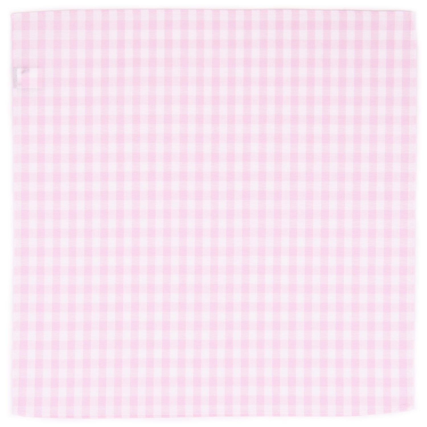 Pink Gingham Pocket Square - Haspel Clothing
