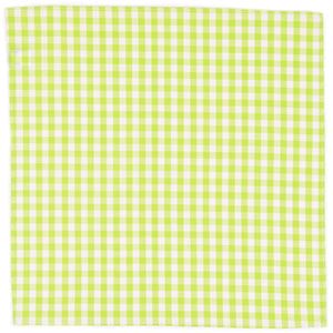 Lime Gingham Pocket Square - Haspel Clothing