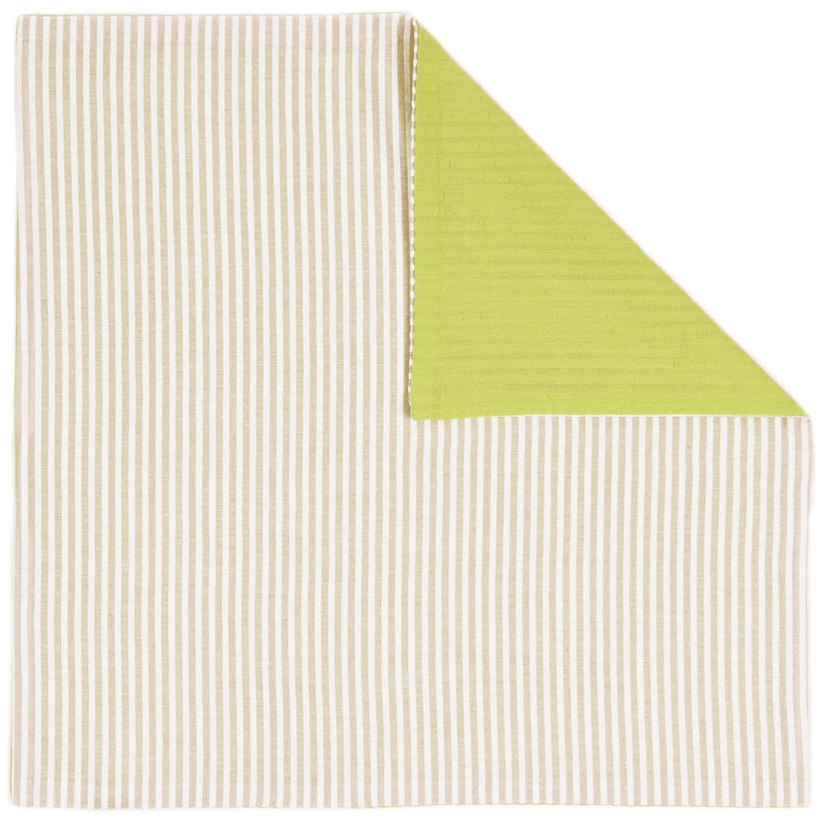 Lime Tan Seersucker Pocket Square