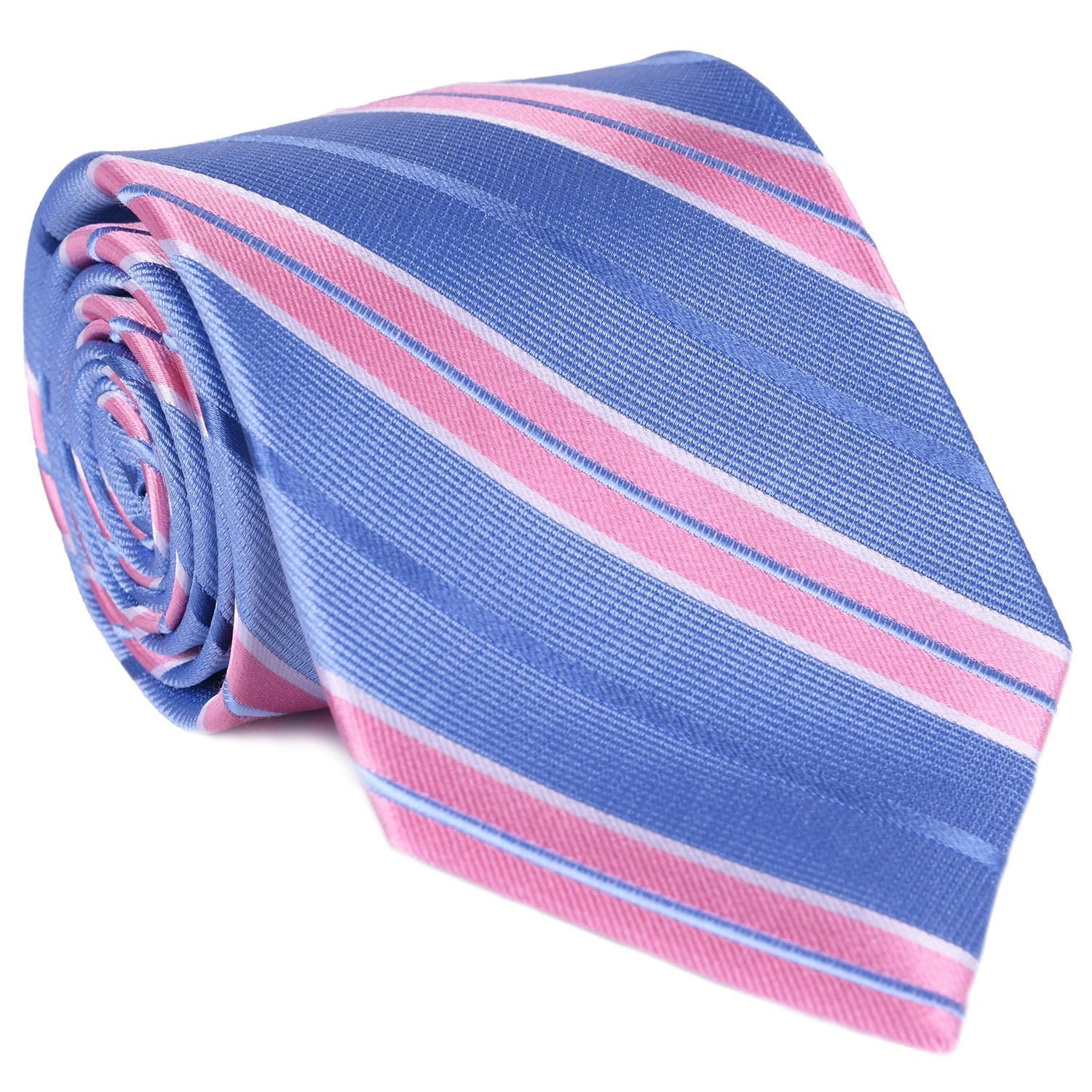 Lt. Blue & Pink Rep Tie - Haspel Clothing