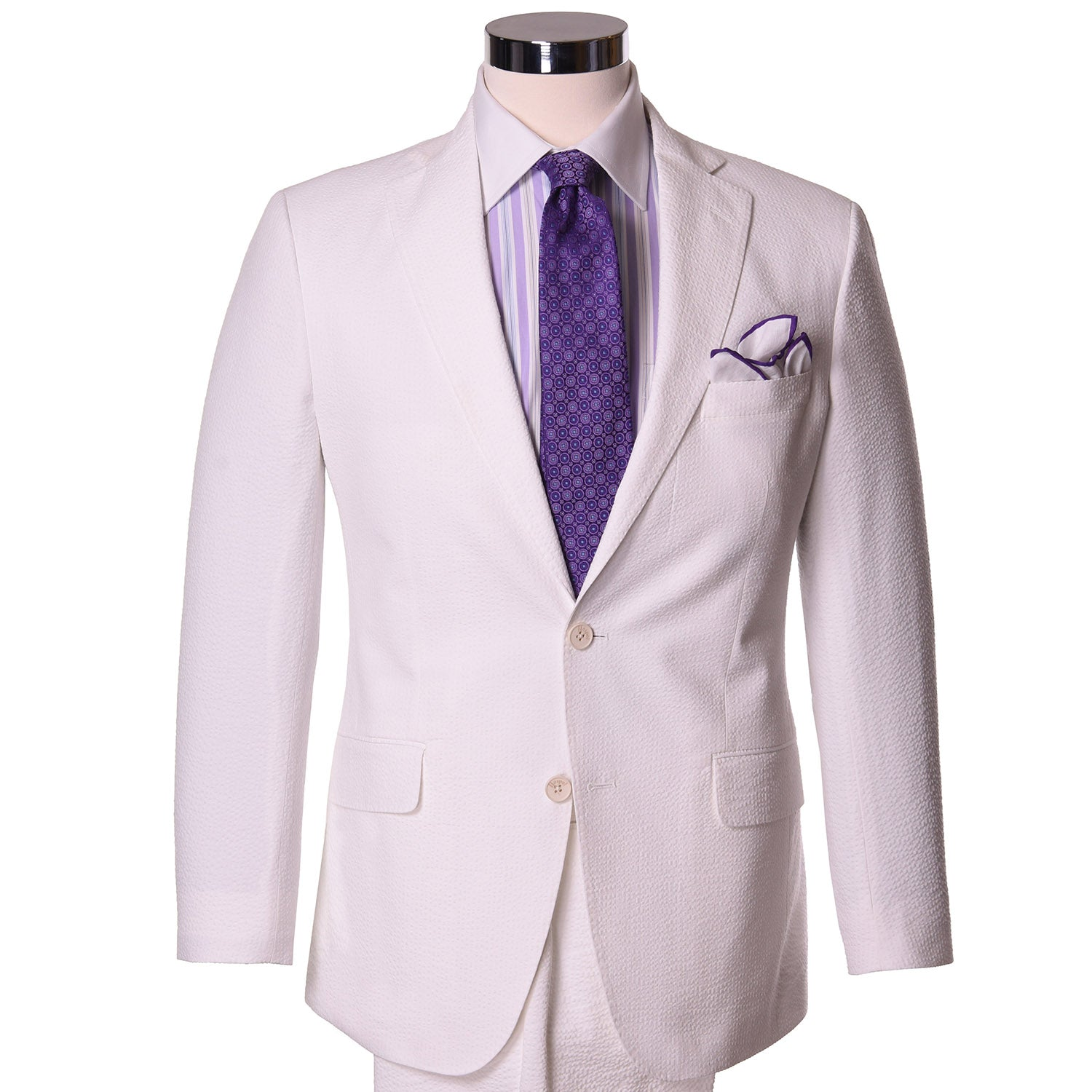 Magnolia White Seersucker Sport Coat - Haspel Clothing