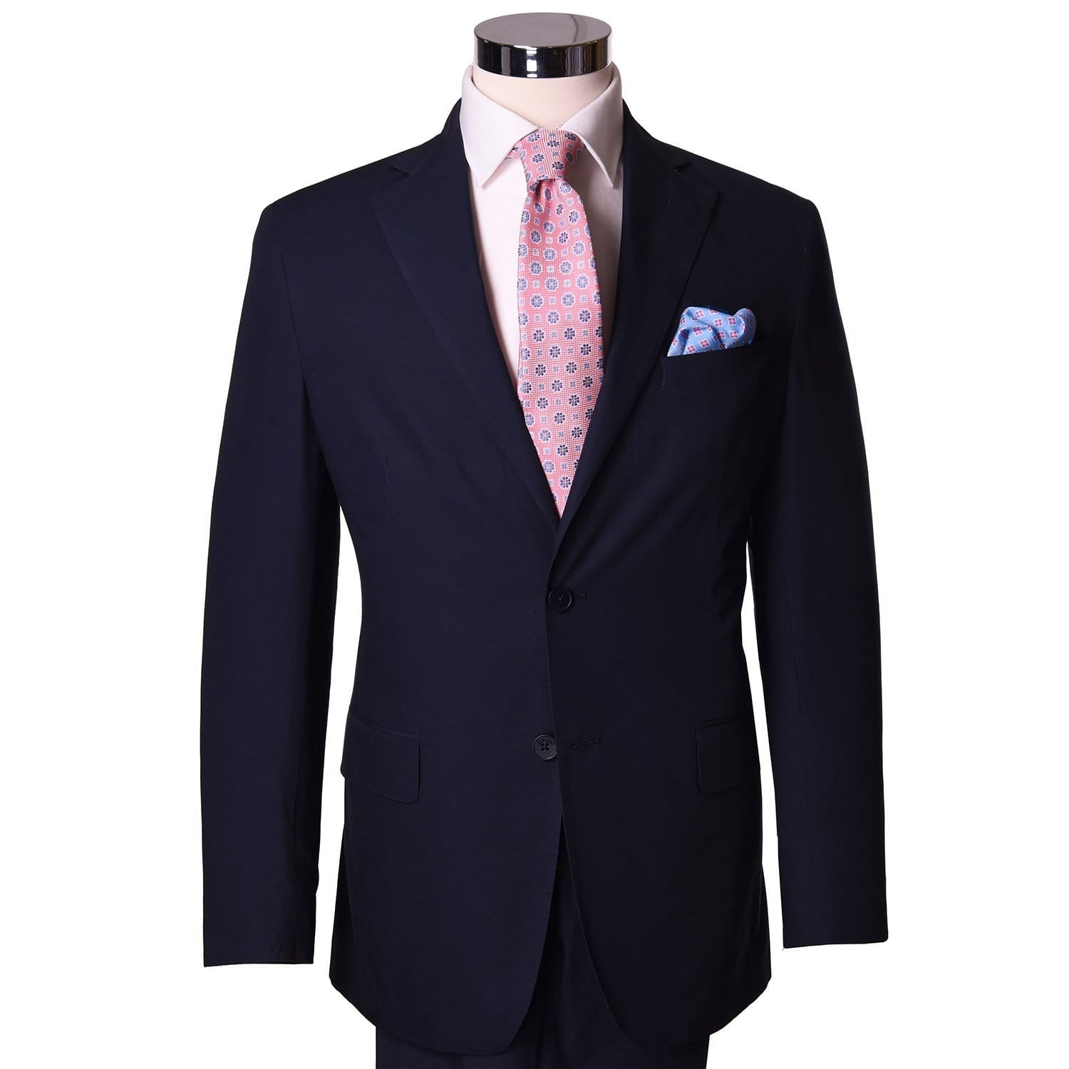 Nautical Navy Poplin Sport Coat - Haspel Clothing