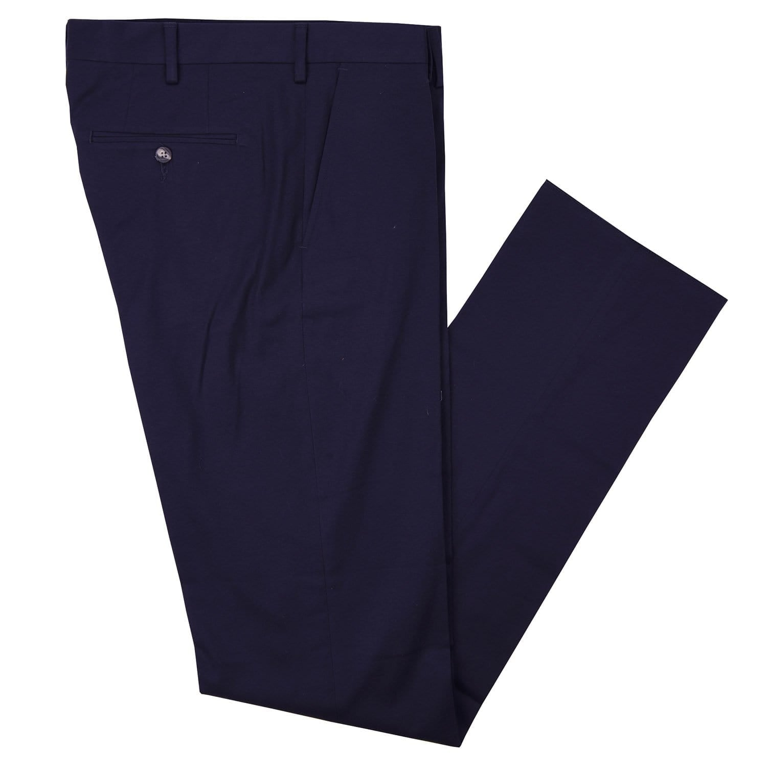 Aubrey Navy Cotton Stretch Poplin Pant