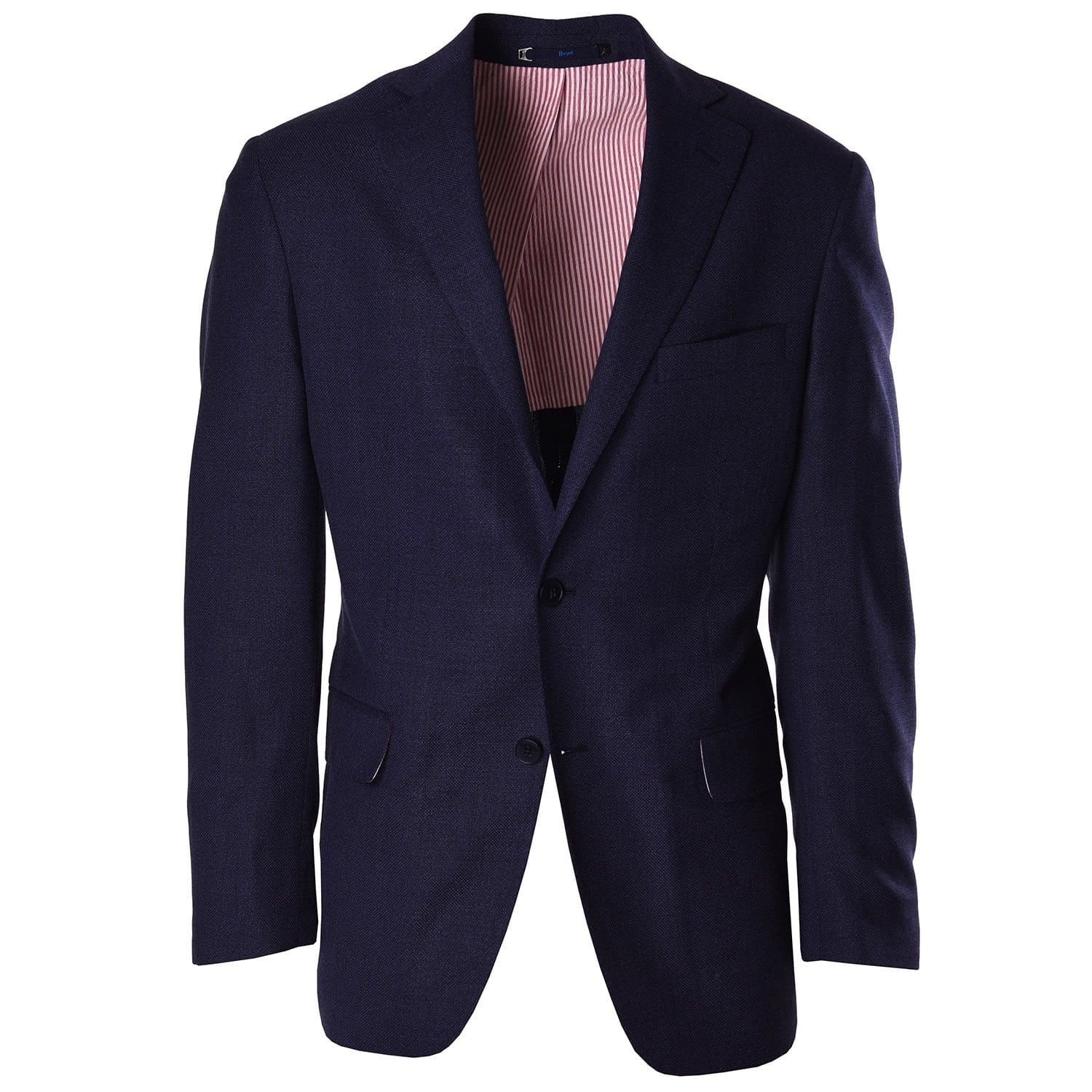 Textured Navy Blazer Pic1