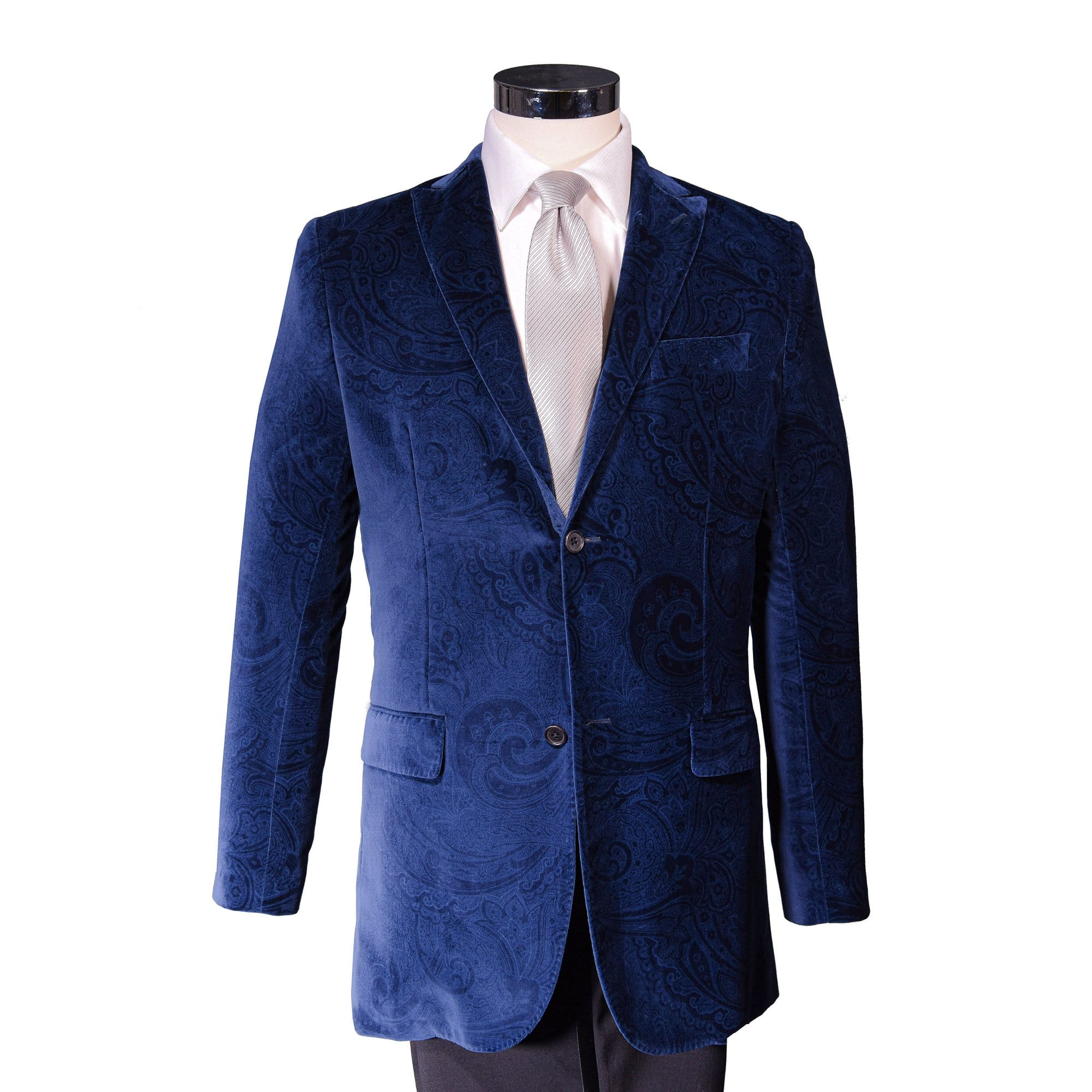 Nightfall Navy Roosevelt Velvet Sport Coat - Haspel Clothing