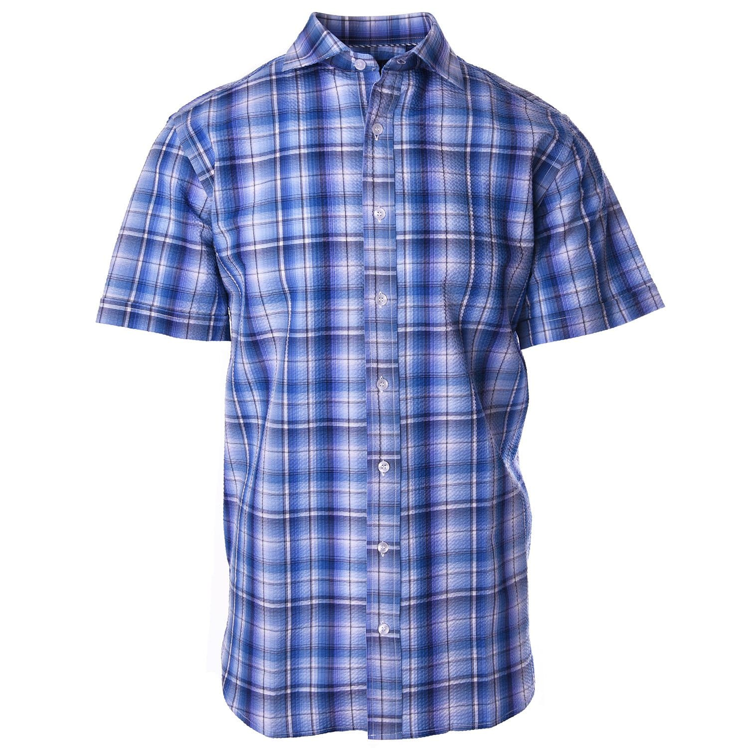 Nicholson Light Blue Seersucker Plaid