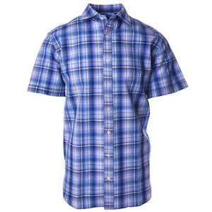 Nicholson Light Blue Seersucker Plaid - Haspel Clothing