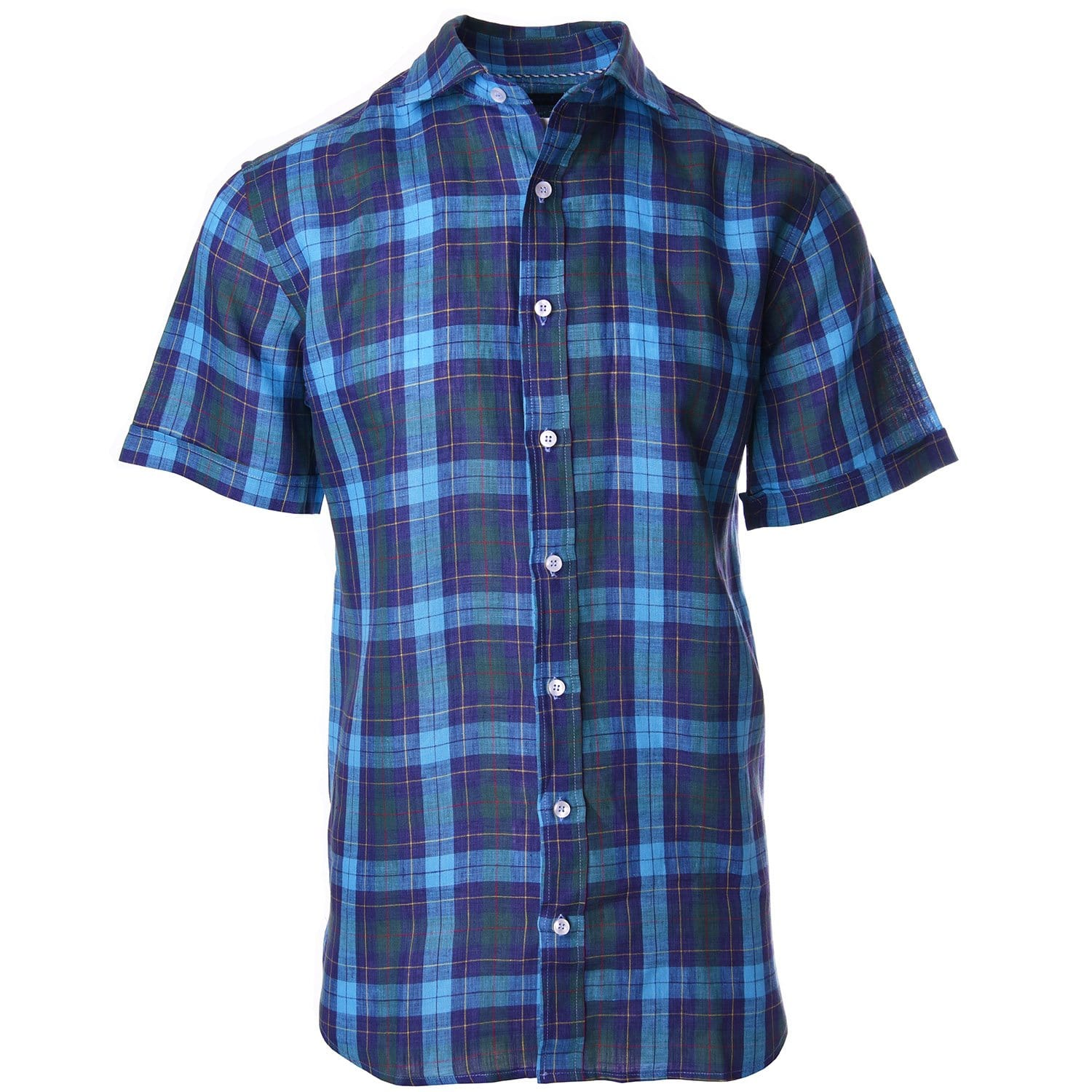 Nicholson Teal Navy Vintage Plaid - Haspel Clothing