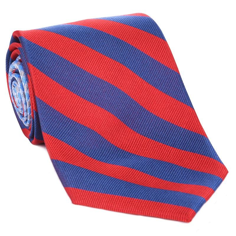 Blue & Red Collegiate Tie - Haspel Clothing