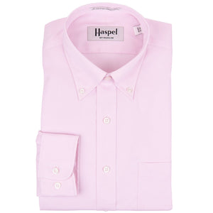 Howard Pink Button Down Oxford Dress Shirt - Haspel Clothing