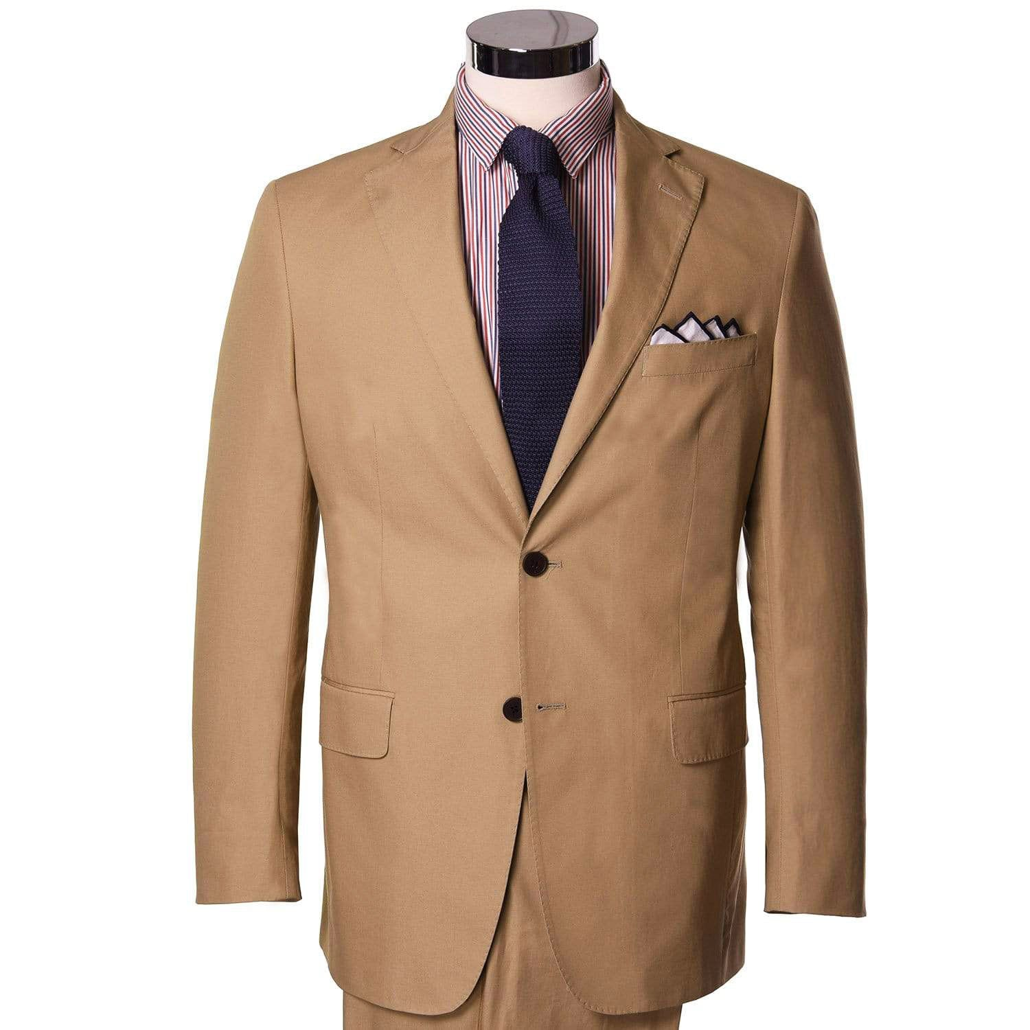 Praline Tan Poplin Sport Coat - Haspel Clothing