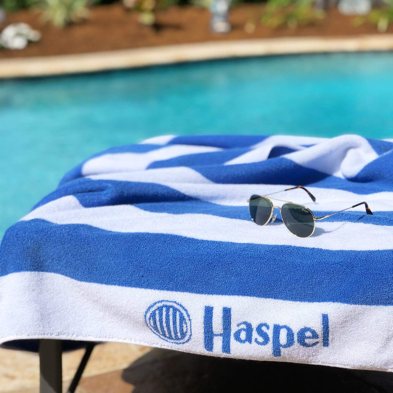 Haspel Seersucker Striped Beach Towel - Haspel Clothing