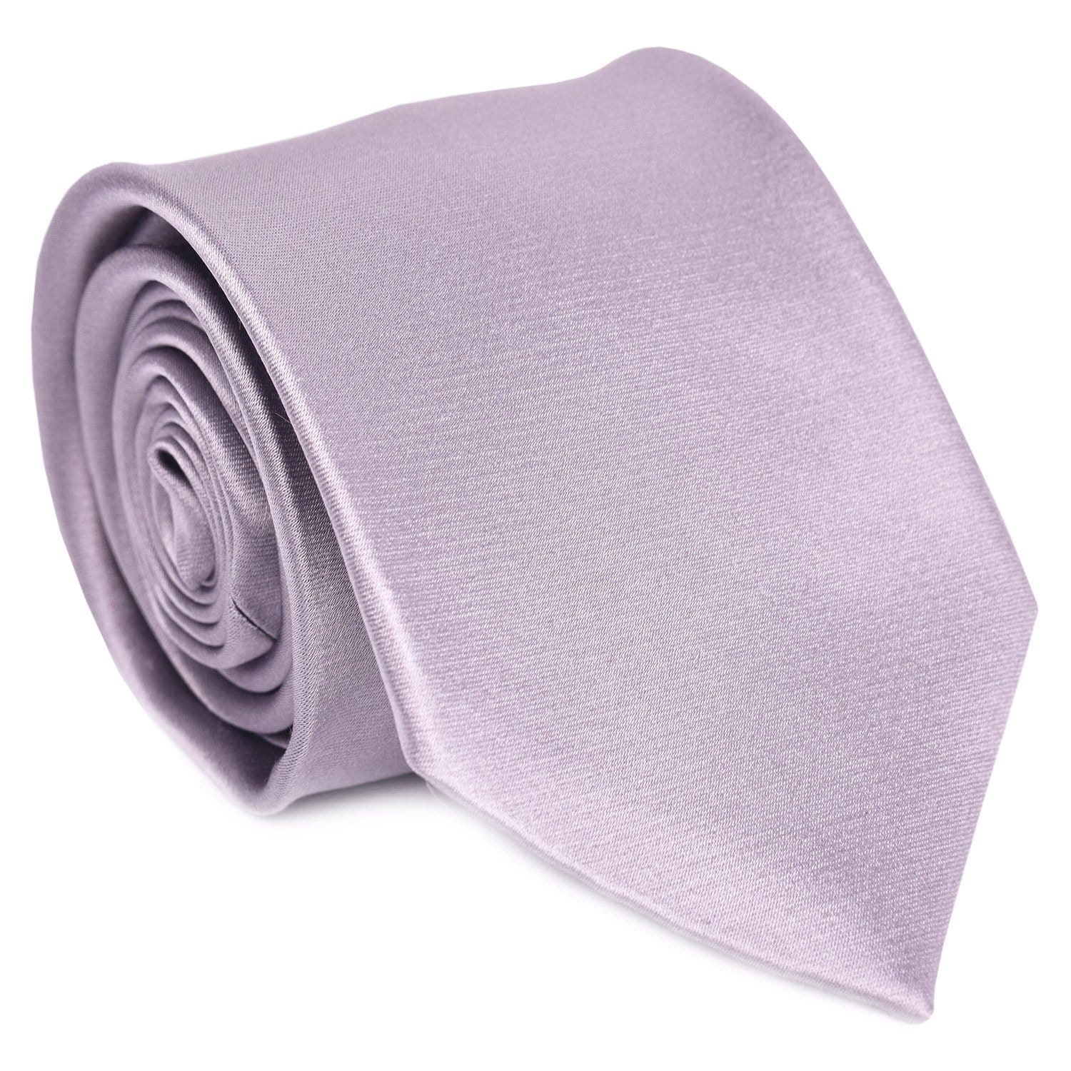 Silver Satin Formal Tie
