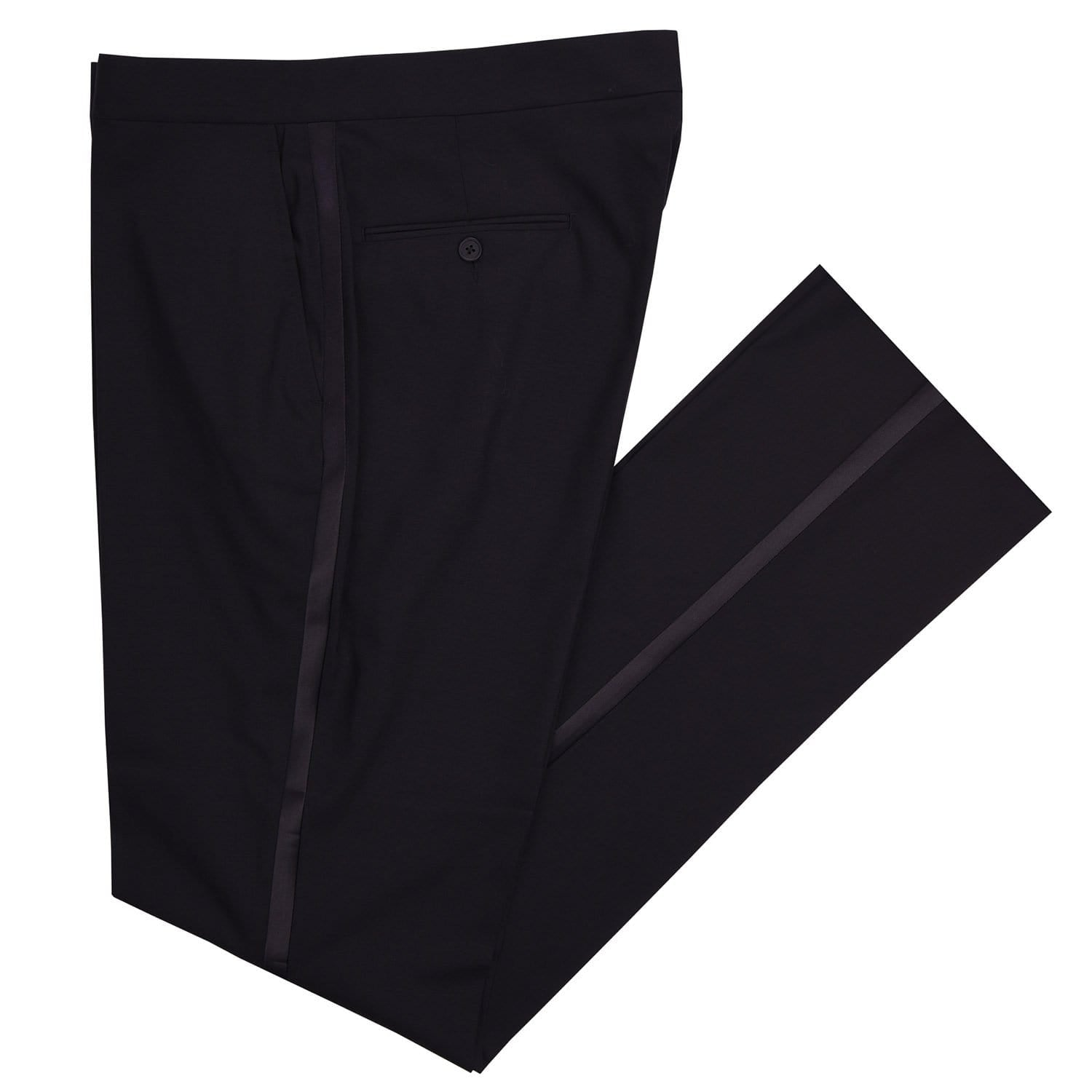 Royale Black Tuxedo Pant - Haspel Clothing